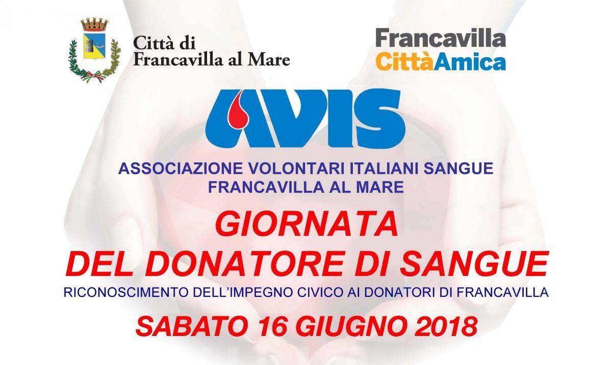 Giornata del Donatore di Sangue: 16 giugno 2018